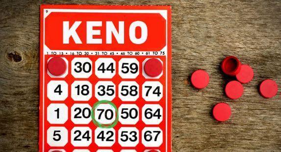 Keno card - online keno