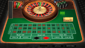 image of online roulette table