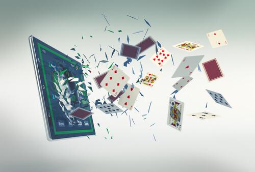 image of online poker cards