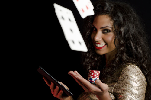 image of online poker player