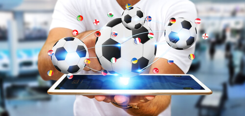 image of online sports betting - soccer